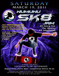 Numunu SK8 Jam flyer March 2011